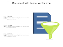 Document With Funnel Vector Icon Ppt PowerPoint Presentation File Graphics Tutorials PDF