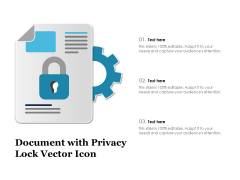 Document With Privacy Lock Vector Icon Ppt PowerPoint Presentation File Diagrams PDF