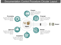 Documentation Control Procedure Circular Layout Ppt PowerPoint Presentation Ideas Layouts