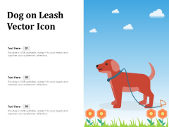 Dog On Leash Vector Icon Ppt PowerPoint Presentation File Designs PDF