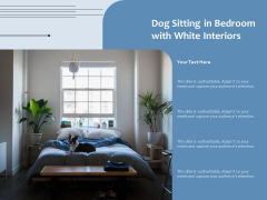 Dog Sitting In Bedroom With White Interiors Ppt PowerPoint Presentation Gallery Deck PDF