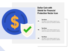 Dollar Coin With Shield For Financial Protection Vector Icon Ppt PowerPoint Presentation File Pictures PDF