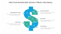 Dollar Puzzle Illustrating Major Elements Of Effective Sales Meeting Ppt PowerPoint Presentation Gallery Samples PDF