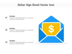 Dollar Sign Email Vector Icon Ppt PowerPoint Presentation File Model PDF