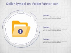 Dollar Symbol On Folder Vector Icon Ppt PowerPoint Presentation File Model