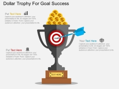 Dollar Trophy For Goal Success Powerpoint Templates