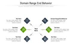 Domain Range End Behavior Ppt PowerPoint Presentation Slides Deck Cpb Pdf