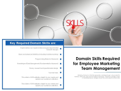 Domain Skills Required For Employee Marketing Team Management Ppt PowerPoint Presentation File Design Ideas PDF