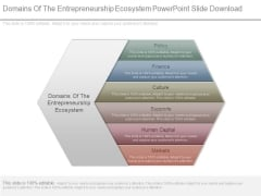 Domains Of The Entrepreneurship Ecosystem Powerpoint Slide Download