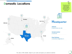 Domestic Locations Ppt PowerPoint Presentation Layouts Samples