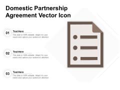 Domestic Partnership Agreement Vector Icon Ppt PowerPoint Presentation Portfolio Designs PDF