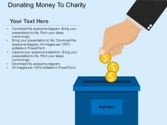 Donating Money To Charity Powerpoint Template