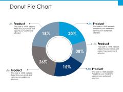 Donut Pie Chart Ppt PowerPoint Presentation Gallery Design Ideas