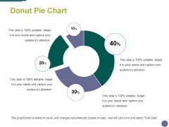 Donut Pie Chart Ppt PowerPoint Presentation Icon Topics