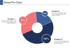 Donut Pie Chart Ppt PowerPoint Presentation Infographics Ideas
