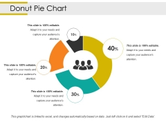 Donut Pie Chart Ppt PowerPoint Presentation Model Inspiration