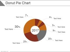 Donut Pie Chart Ppt PowerPoint Presentation Show
