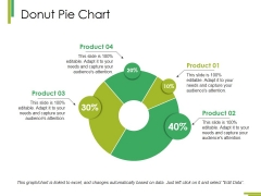 Donut Pie Chart Ppt PowerPoint Presentation Show Visual Aids