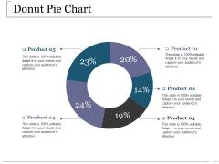 Donut Pie Chart Ppt PowerPoint Presentation Styles Summary