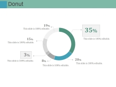 Donut Ppt PowerPoint Presentation Layouts Master Slide