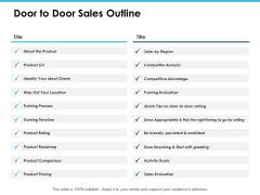 Door To Door Sales Outline Ppt PowerPoint Presentation Outline Structure