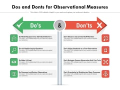 Dos And Donts For Observational Measures Ppt PowerPoint Presentation Icon Ideas PDF