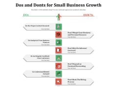 Dos And Donts For Small Business Growth Ppt PowerPoint Presentation File Designs PDF