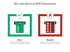 Dos And Donts Of ATM Transactions Ppt PowerPoint Presentation Gallery Pictures PDF
