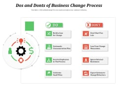 Dos And Donts Of Business Change Process Ppt PowerPoint Presentation File Summary PDF