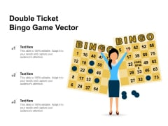Double Ticket Bingo Game Vector Ppt PowerPoint Presentation File Background Image PDF