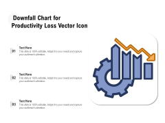 Downfall Chart For Productivity Loss Vector Icon Ppt PowerPoint Presentation File Clipart PDF