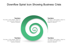 Downflow Spiral Icon Showing Business Crisis Ppt PowerPoint Presentation Model Demonstration PDF