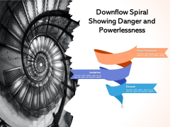Downflow Spiral Showing Danger And Powerlessness Ppt PowerPoint Presentation Infographic Template Guide PDF