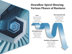 Downflow Spiral Showing Various Phases Of Business Ppt PowerPoint Presentation Outline Visual Aids PDF