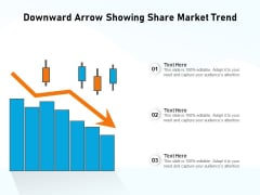 Downward Arrow Showing Share Market Trend Ppt PowerPoint Presentation Gallery Professional PDF