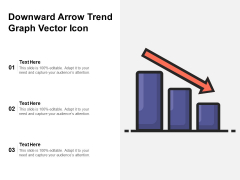 Downward Arrow Trend Graph Vector Icon Ppt PowerPoint Presentation Pictures PDF