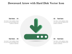 Downward Arrow With Hard Disk Vector Icon Ppt PowerPoint Presentation Gallery Background Designs PDF