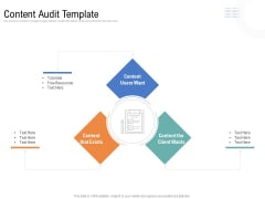 Drafting A Successful Content Plan Approach For Website Content Audit Template Ppt Design Ideas PDF