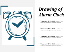 Drawing Of Alarm Clock Ppt PowerPoint Presentation Inspiration