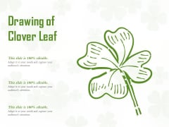 Drawing Of Clover Leaf Ppt PowerPoint Presentation Ideas Themes