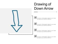 Drawing Of Down Arrow Ppt PowerPoint Presentation Infographics Maker