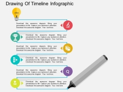 Drawing Of Timeline Infographic Powerpoint Template