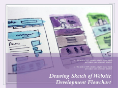 Drawing Sketch Of Website Development Flowchart Ppt PowerPoint Presentation Outline Graphics Example PDF