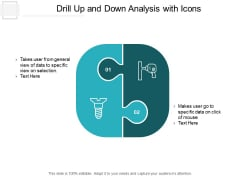 Drill Up And Down Analysis With Icons Ppt PowerPoint Presentation Summary Infographic Template