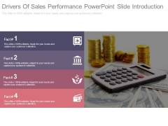 Drivers Of Sales Performance Powerpoint Slide Introduction