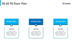 Dropbox Fundraising Elevator 30 60 90 Days Plan Guidelines PDF