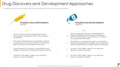 Drug Discovery And Development Approaches Icons PDF
