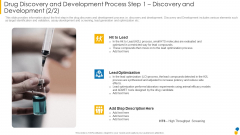 Drug Discovery And Development Process Step 1 Discovery And Development Optimization Formats PDF