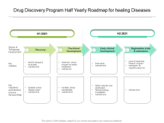 Drug Discovery Program Half Yearly Roadmap For Healing Diseases Sample