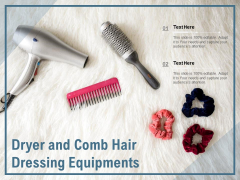Dryer And Comb Hair Dressing Equipments Ppt PowerPoint Presentation Model Slide PDF